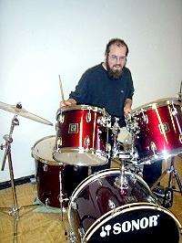 Thomas Vedder am Schlagzeug